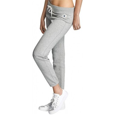 Converse Womens All Star Core Slim Jogging Bottoms Grey