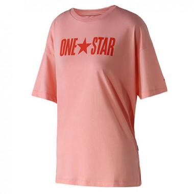 CONVERSE One Star Boxy T-Shirt Pink