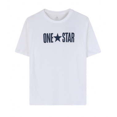 CONVERSE One Star Boxy T-Shirt White