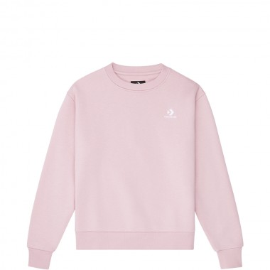 CONVERSE Womens EMBROIDERED STAR CHEV CREW Pink