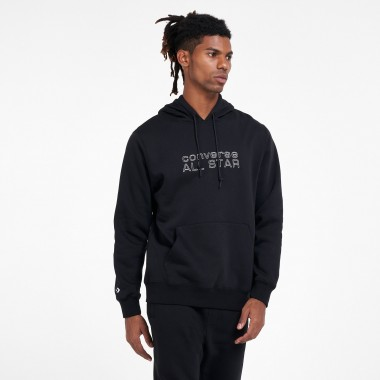 CONVERSE MEN'S ALL STAR PULLOVER HOODIE Black