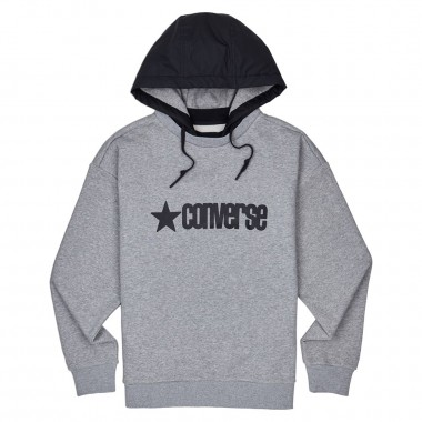 MEN'S REMOVEABLE HOODED CREW Grey