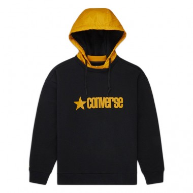 MEN'S REMOVEABLE HOODED CREW Black