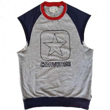 Converse Star Sleaveless Tee Grey-Navy-Red