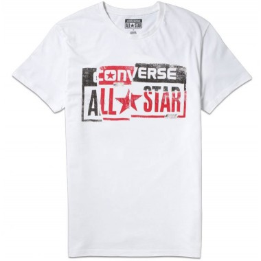 AMT PIECED ALL STAR LP TEE White