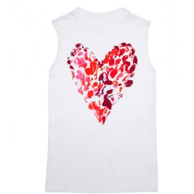Converse POP HEART MUSCLE TEE White
