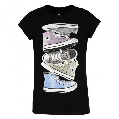 CNVG SHINY SNEAKER STACK TEE BLACK -Над 7 години