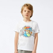 Colorful Bascketball Tee White 4-7 години