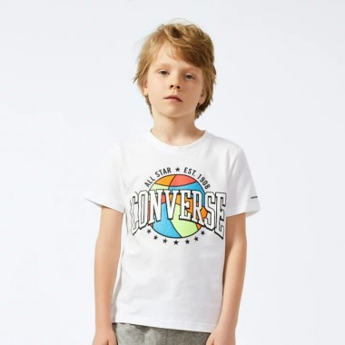 Colorful Bascketball Tee White Над 7 години