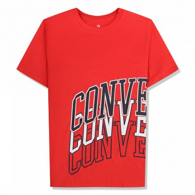 Converse Collegiate Repeat Wrap Tee - Boys RED