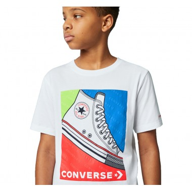 Colorblocked Sneaker Tee White над 7 години