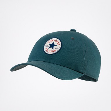 Tipoff Chuck Taylor Patch Baseball Cap in Faded Spruce