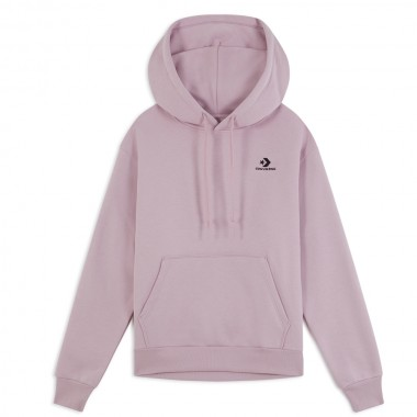 Embroidered Star Chevron Pullover Hoodie Himalayan Salt