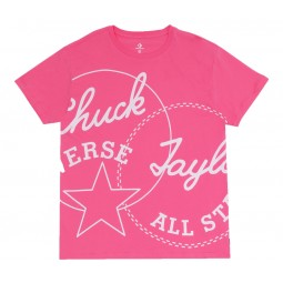 Converse Chuck Patch Play Tee Bold Pink