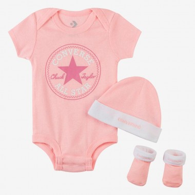 CONVERSE Logo Baby Set Pink one size : 0-6 Months