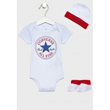 CONVERSE Logo Baby Set White/Red one size : 0-6 Months