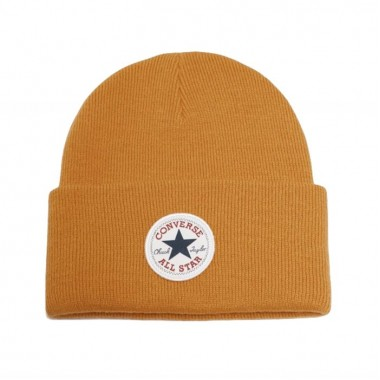 Tall Chuck Patch Beanie Saffron Yellow