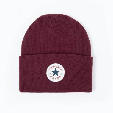 Tall Chuck Patch Beanie Dark Burgundy