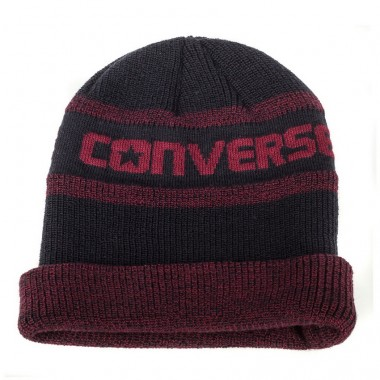 JACQUARD KNIT WATCHCAP Red Block