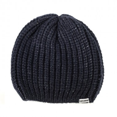 METALLIC COATED BEANIE Navy