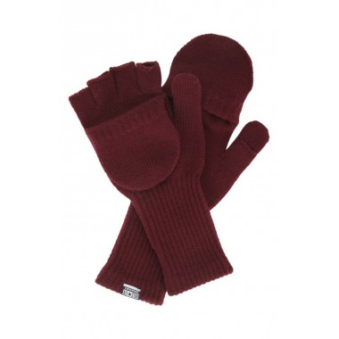Coverse Convertible Knit Gloves Deep Bordeaux