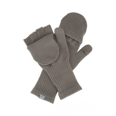 Convertible Knit Gloves Charocal