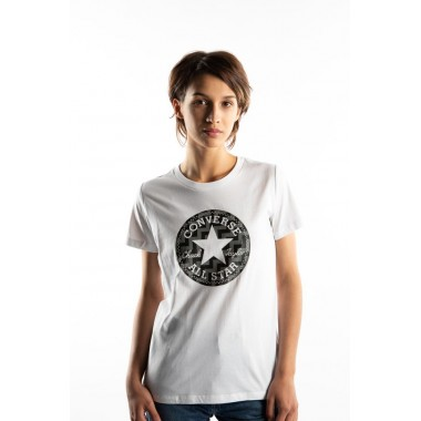 T-SHIRT CONVERSE VOLTAGE CHUCK PATCH NOVA /WHITE - WOMEN´S