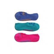 Converse Socks Half Cushion Ultra Low - 3 Pairs (Blue, Green, Pink)