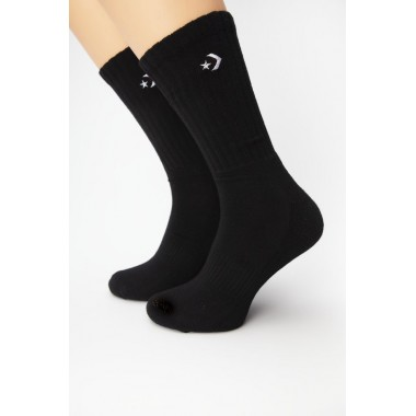 Converse Socks Half Cushion Crew - 2 Pairs Black