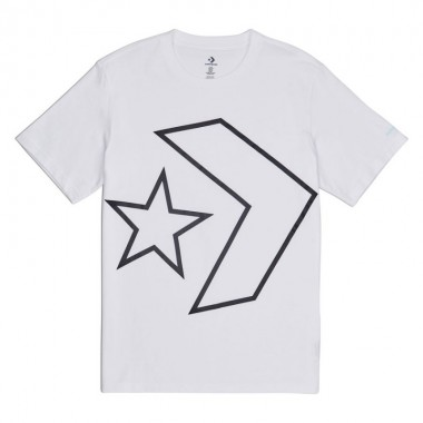 Converse Men's Tilted Star Chevron Tee Optical White