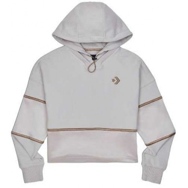 Colorblock Shine Pullover White