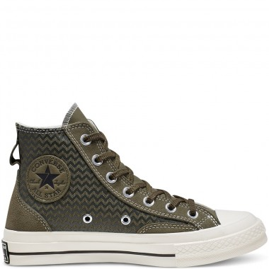 Chuck Taylor All Star 70 VLTG Suede Overlay High Top Utility Green