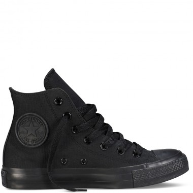 Chuck Taylor All Star Classic Colors Black Monochrome Hi