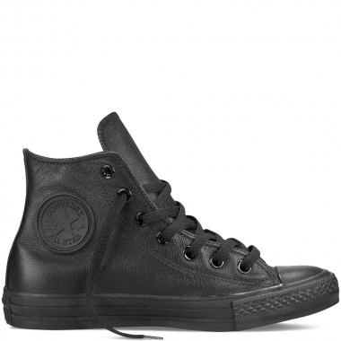 Chuck Taylor All Star Leather Black Monochrome Hi