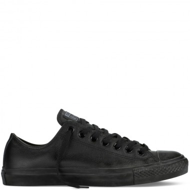Chuck Taylor All Star Leather Black Monochrome