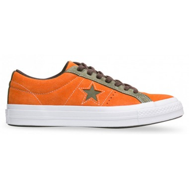 One Star Carnival Suede Low Medium Orange