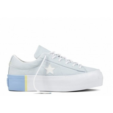 ONE STAR PLATFORM TRI-BLOCK MIDSOLE White/Blue