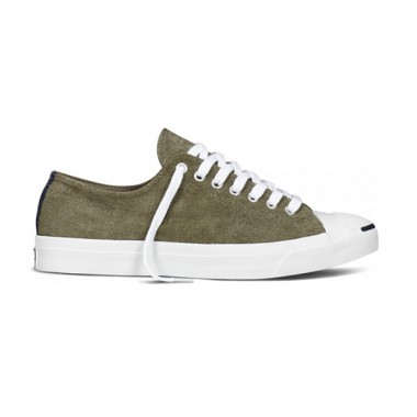 CONVERSE JACK PURCELL SUEDE Surplus Green & White