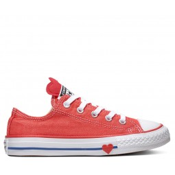 Chuck Taylor All Star Junior Denim Love Red