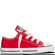 CHUCK TAYLOR ALL STAR LOW TOP INFANT/TODDLER red