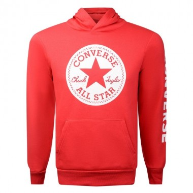 Converse Signature Chuck Patch Hoodie Enamel Red Kids