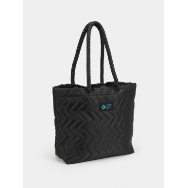 Quilted Tote Converse Bag Black