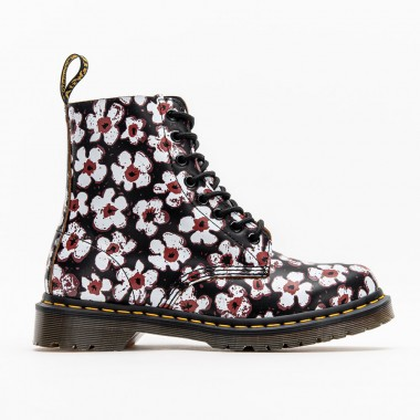 1460 PASCAL FLORAL LEATHER LACE UP BOOTS