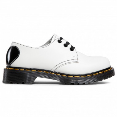 1461 HEARTS SMOOTH & PATENT LEATHER OXFORD SHOES White