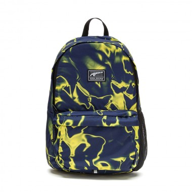 Puma ACADEMY BACKPACK Navy-Yellow
