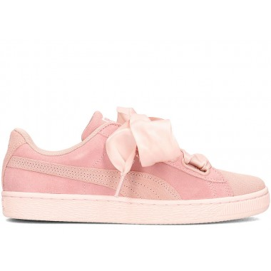 PUMA BASKET HEART REBBLE Peach