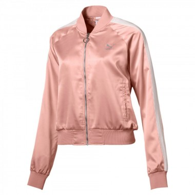 PUMA En Pointe Satin T7 Jacket Peach