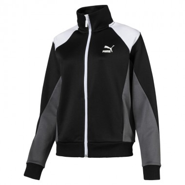 RETRO WOMEN'S TRACK JACKET Black