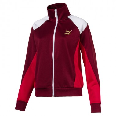 RETRO WOMEN'S TRACK JACKET Pomegranate
