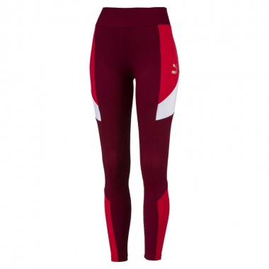 Retro Rib Legging Pomegranate
